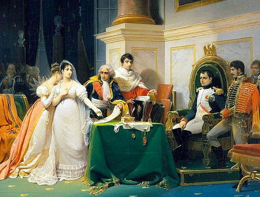 Image of Schopin's painting :Le divorce de l'Impératrice Joséphine