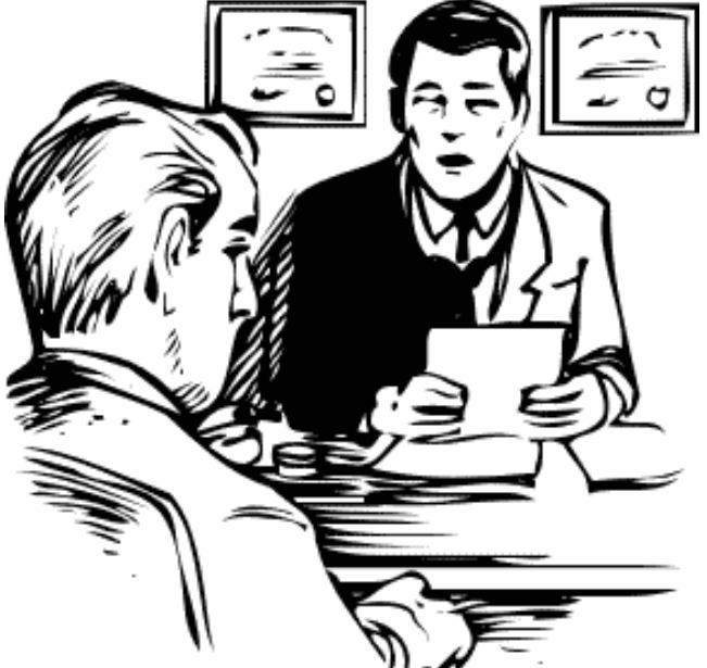 Illustration of a work meeting
